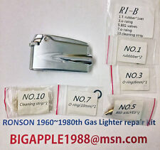 Ronson 1960~1980th Vintage Gas Lighter repair Kit R1-B Free Youtube DIY Video 2