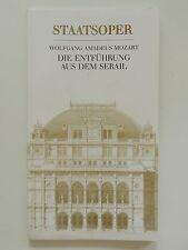 Wiener Staatsoper Wolfgang Amadeus Mozart Enthüllung aus dem Serail Programmheft