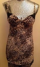 Victoria's Secret Shaping  Slip Cupped Leopard Print with Lace Padded 36B