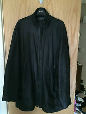 GREAT COND DONNA KARAN BUTTER SOFT BLACK LEATHER ZIPPED JACKET SIZE L £900 NEW