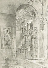 Chapel of the Sacrament-St. Mark's Basilica-Venice Italy - 1905- Axel Haig Print