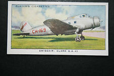 SWISSAIR  Clark GA 43  Airliner   1930's Original Vintage Card  VGC