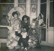 Groupe Déguisé c. 1900 - Soirée Costumé Déguisement - aa821