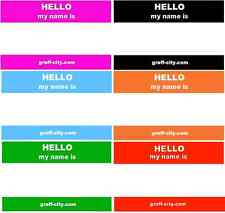 120 HELLO MY NAME IS ADESIVI - 6 COLORI MISTI