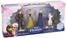 Disney Frozen Elsa Anna Kristoff Olaf Mini Doll 4 pc Figurines Xmas + Stickers