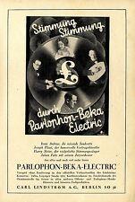 Carl Lindström A.G. Berlin Odeon Musikhaus Parlophon- Beka- Electric Platten1928