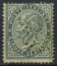 Italy 1863-65 SG#10, 5c Grey Used #D8735