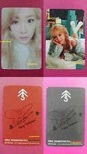 Lot of 2 TTS TAEYEON Official Photocard Dear Santa RED GREEN TaeTiSeo SNSD 태연