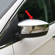 Chrome Rear View Mirror Cover Trims with Turn light For Ford Escape Kuga 2013-17