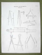 DRAWING INSTRUMENTS Comapsses Beams Proportional - 1820 ABRAHAM REES Print
