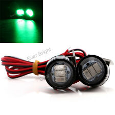 2pcs Green Daytime Running Light Strobe LED Motorcycle Headlight Spotlight Lamp