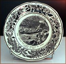"""CREIL MONTEREAU, Porcelaine opaque, """"Voyage autour du Monde"""""""