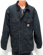 Carhartt BLACK DUCK Arctic Quilt Lined JACKET 46 TALL corduroy collar C03 46T