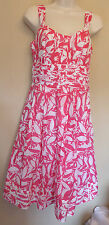 Monsoon UK8 EU36 US4 bright pink and white lined dress