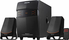 PHILIPS MMS2550 MULTIMEDIA SPEAKERS+2.1CH+2500W PMPO+USB+FM+AUX+7 SEG LED+REMOTE