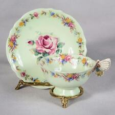 PARAGON BUTTERFLY HANDLED TEACUP & SAUCER