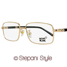 Montblanc Rectangular Eyeglasses MB475U 028 Size: 58mm Rose Gold/Black 475