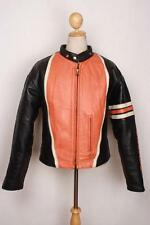 Vtg SCHOTT PERFECTO Cafe Racer Leather Motorcycle Jacket Quilted Lining Large
