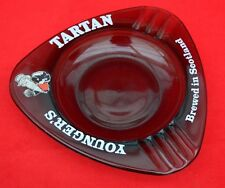 YOUNGER'S TARTAN BEER GREY GLASS ASHTRAY:   A GREAT ITEM IN SOUND CONDITION!