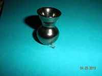 DOLLHOUSE MINIATURE ONE INCH  SCALE HOURGLASS VASE BY A LEX MEIKLEJOHN.