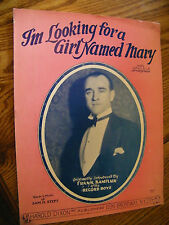 SHEET MUSIC I'M LOOKING FOR A GIRL NAMED MARY BY SAM H. STEPT WITH UKULELE
