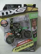 2015 JAKKS MXS RYAN VILLOPOTO #1 THOR PARTS UNLIMITED DC KAWASAKI KX450F GREEN