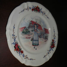Obernai France Sarreguemines Dishwasher Safe France Chopplate Plate 12.5""