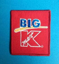 Vintage 1980's Big K Mart Department Store Employee Uniform Work Shirt Patch