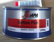 IMPA SOFTON PLUS CAR BODY FILLER LIGHTWEIGHT XFINE FILLER /STOPPER 1.1KG (WHITE)
