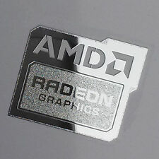 AMD Radeon Graphics Chrome Metal Sticker Case Badge New Version USA Seller!