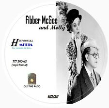 FIBBER McGEE AND MOLLY - 777 Shows Old Time Radio In MP3 Format OTR On 1 DVD