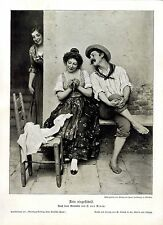 Eugene von Blaas italienischer Maler Fein eingefädelt Histor.Kunstdruck 1906