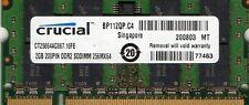 New Crucial 2GB PC2-5300 667MHz DDR2 Laptop/Notebook/Netbook/Tablet RAM Memory