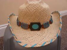 Bullhide, DEL MAR, Paglia/Turchese Cappello da cowboy