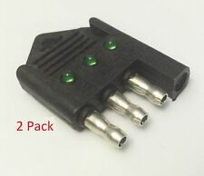 2 Pack Truck Trailer Plug Tester 4 Way Flat Pin Circuit Fuse Wire Light Tester