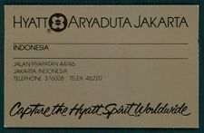 HYATT ARYADUTA Hotel old luggage label JAKARTA Indonesia Asia Sticker