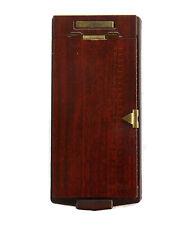 Vintage TELEPHONE FLIP ADDRESS BOOK / LIST FINDER Faux Wood BATES MFG Model A