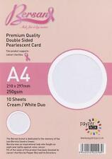 Duo White/Cream - Payper Box Bersan Pearlescent 10 * A4 double sided pearl card