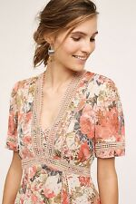 NWT SZ 0P $188 ANTHROPOLOGIE ROSE BOUQUET DRESS BY RANNA GILL FAB BOHO FAVORITE!