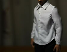 "Hot 1/6 Toys Clothing Classic White Shirt Clothes For 12"" Male Doll Figure model"