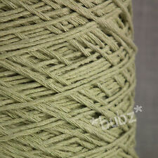 SOFT DOUBLE KNITTING COTTON YARN SAGE GREEN 500g CONE 10 BALLS DK WEAVE CROCHET