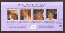 SOUTH GEORGIA, 1998  PRINCESS DIANA COMMEMORATION MINATURE SHEET MNH