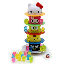 Hello Kitty Kids toy Tower Game with Doll My Melody Pom Pom Purin Sanrio