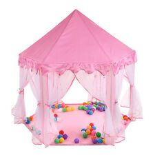 Pink Princess Castle Cute Playhouse Children Play Tent Outdoor Toys For Kids