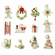 Lenox ~ Set of 12 Ornaments ~ Winter Delights ~ Christmas ~ NIB  (No Tree)