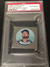 1988 Topps Coin Square Metal Proof RICK SUTCLIFFE PSA Authentic