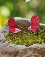 Micro Retro Chair set /2 Dollhouse Miniature Fairy/Faerie Gnome Garden Terrarium