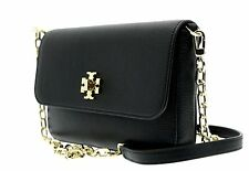 Tory Burch Mercer Classic Crossbody Leather Chain Messenger Bag Black NWT