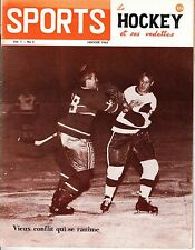 1963 (Jan.) Sports Le Hockey Magazine, Gordie Howe, Detroit Redwings ~ VG