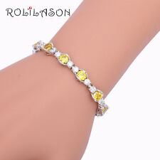 TB969A Trendy Yellow Zircon Silver Plated Bracelets Fashion Jewelry for Women